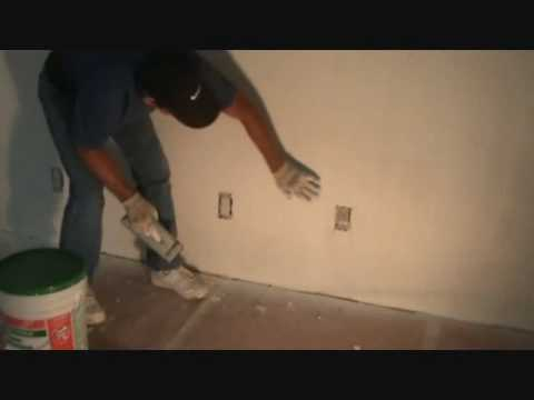Another tip when sanding sheetrock walls