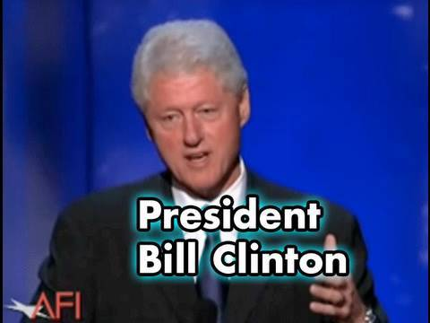President Bill Clinton Salutes Warren Beatty at the AFI Life Achievement Award
