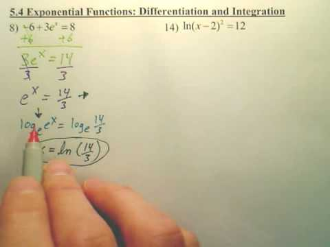 5.4a Exponential Differentiation and Integration - Calculus