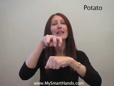 potato - ASL sign for potato