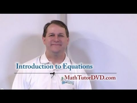 Intro to Equations - Sample Video Clip - Algebra 1 Tutor Vol 1