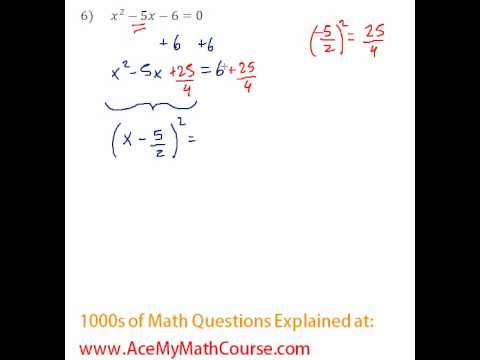 Solving by Completing the Square #6