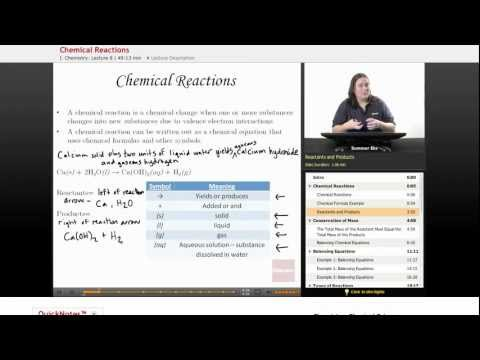 Physical Science: Chemical Reactions