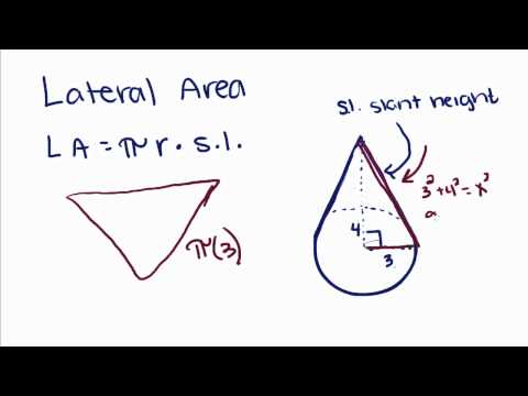 Geometry - 20 - Right Circular Cone- Volume, Lateral Area, and Total Area