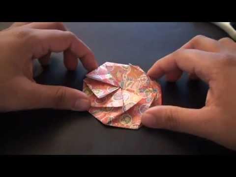 Origami Daily - 213: Tato Pleated Coin Purse (Fabric Origami) - TCGames [HD]