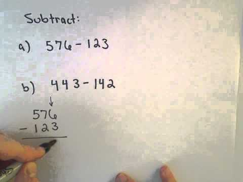 Subtracting Whole Numbers , Example 1