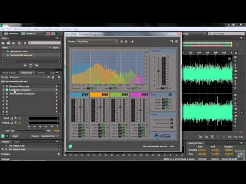 Adobe Audition CS6 Tutorial | Working with the Compressor | InfiniteSkills