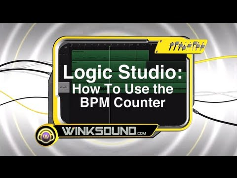 Logic Pro: How To Use the BPM Counter   WinkSound