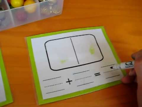 Preschool - Math. Addition cards