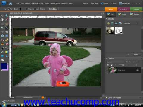 Photoshop Elements Tutorial Creating and Saving Custom Brush Tips Adobe Training Lesson 7.3