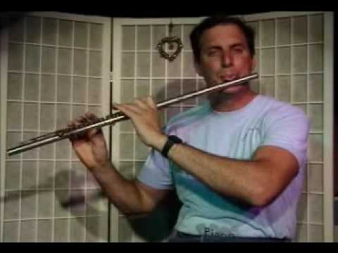 Flute Lesson: How to play a A Major scale up and down