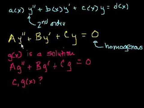 2nd Order Linear Homogeneous Differential Equations 1