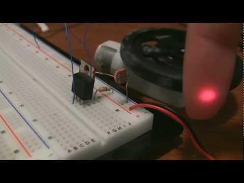 Laser Tripwire circuit / photoresistor tutorial