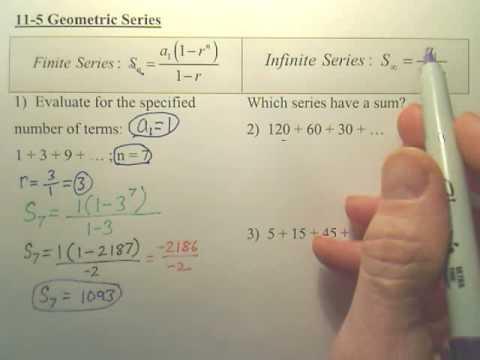Algebra 2 - 11-5 Geometric Series page 1