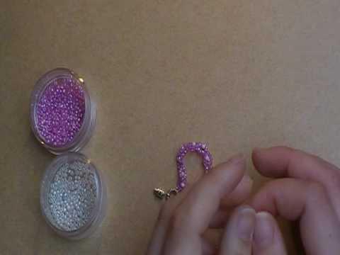 How to make a flowery beaded bracelet