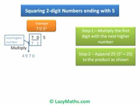 Ex 3 Squaring of 2 Digit numbers ending with 5