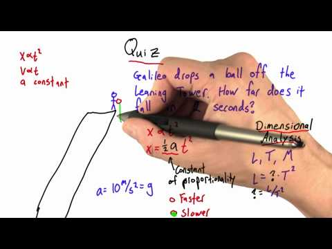 Acceleration on Earth Solution  - Intro to Physics - Motion - Udacity