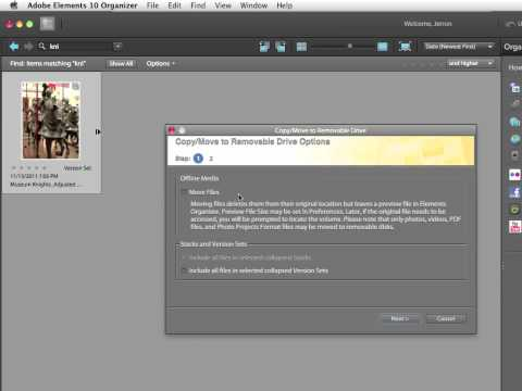 InfiniteSkills Tutorial | Photoshop Elements 10 Training - Copy and Move Files to Removable Disks