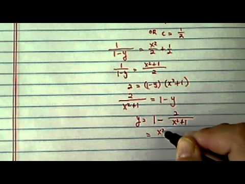 Differential Equation: dy/dx=x(y-1)^2 with initial condition f(0)=-1?