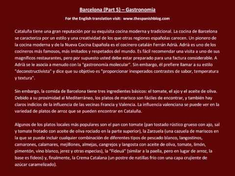 Spanish English Parallel Texts Barcelona (Part 5) Gastronomía