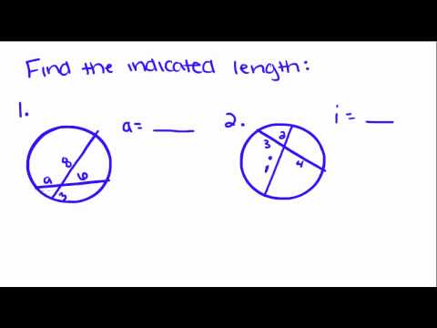 Introduction to Geometry - 49 - Length of Segments in a Circle