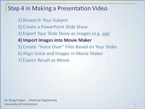 C) Part 1: How to Make a Slide Presentation Video