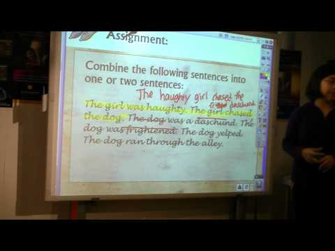 teaching sentence fluency ustream.MTS