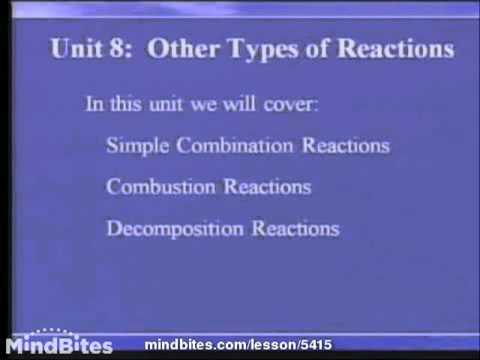 Chemistry Fundamentals: Other Reactions