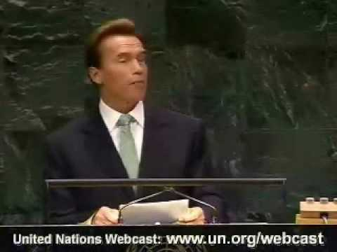 Gov. Arnold Schwarzenegger at the United Nations