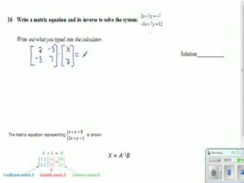 Matrix Practice Test 16