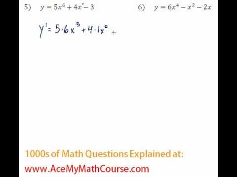 Derivatives - Power Rule Question #5