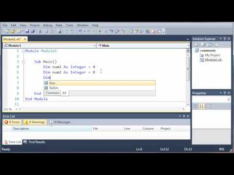 Visual Basic Tutorial - 9 - Math Operators
