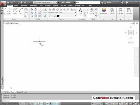 AutoCAD 2012 Tutorial - 4.2 - Setting the Units