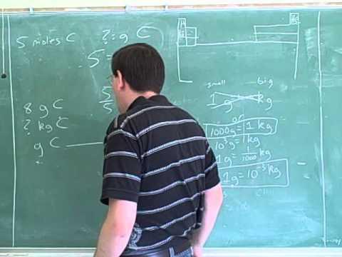 Stoichiometry. Atoms, molecules, moles (6)