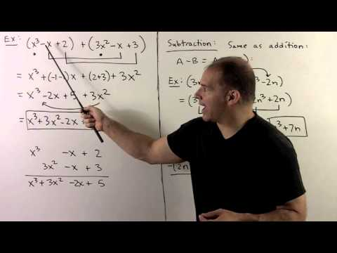 BCA4.1.  Polynomials:  Addition