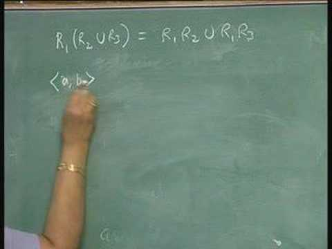 Lecture 18 - Special Properties of Relations