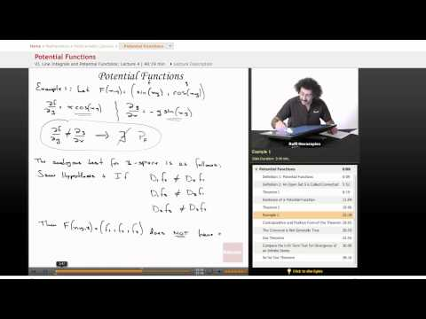 Multivariable Calculus: Potential Functions, Part 1