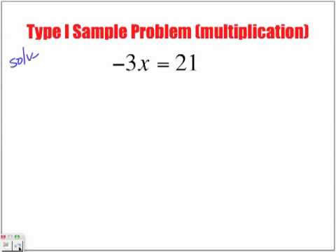 Solving Type I Equations