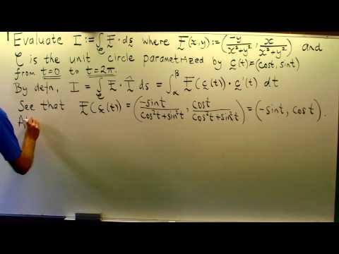 Line integral from vector calculus over a closed curve