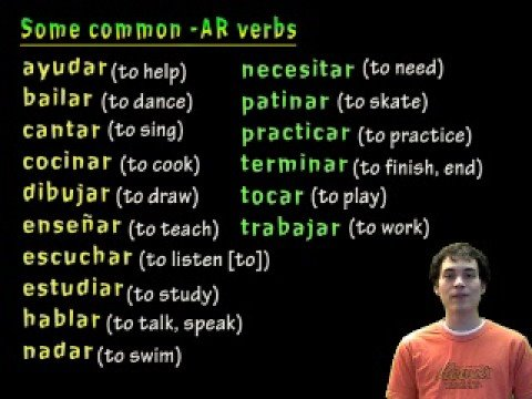 01021 Spanish Lesson - Present Tense - AR verbs: él/ella/usted