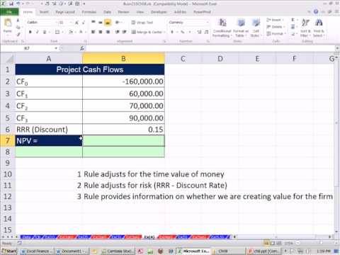 Excel Finance Class 70: Investment Criteria: Net Present Value