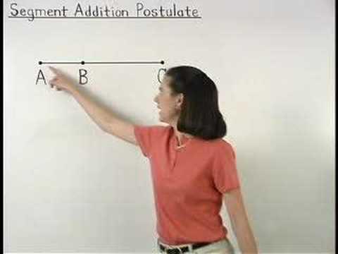 Segment Addition Postulate - YourTeacher.com - Geometry Help