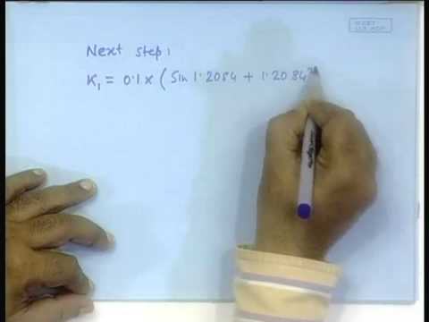 Lecture - 20 Numerical Solution of Differential Equations