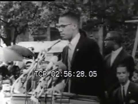 Malcolm X argues against integration and promotes Black Pride