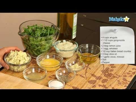 How to Make Arugula Salad With Fried Gorgonzola Balls