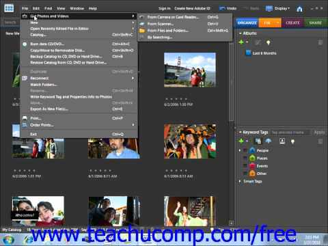 Photoshop Elements 9.0 Tutorial The Organizer Environment Adobe Training Lesson 2.1