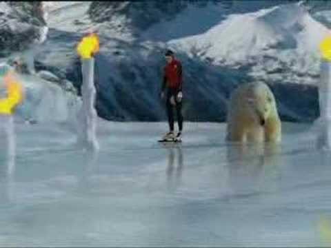 Ice skater vs polar bear - BBC animation