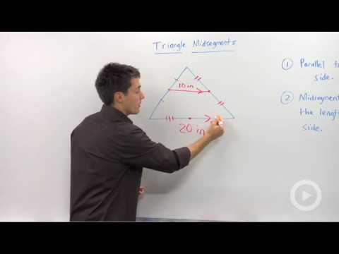 Geometry - Triangle Midsegment Properties