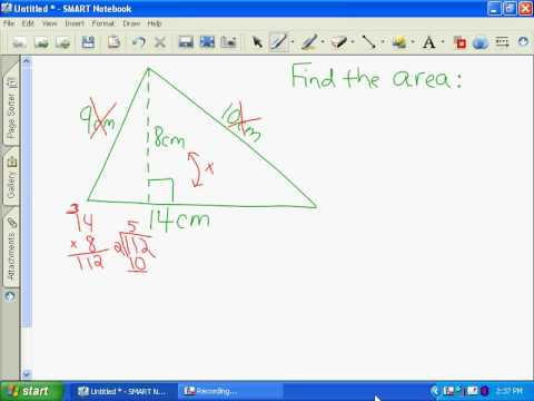 Jesse finding area of a triangle
