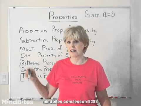 Properties Used In Proofs